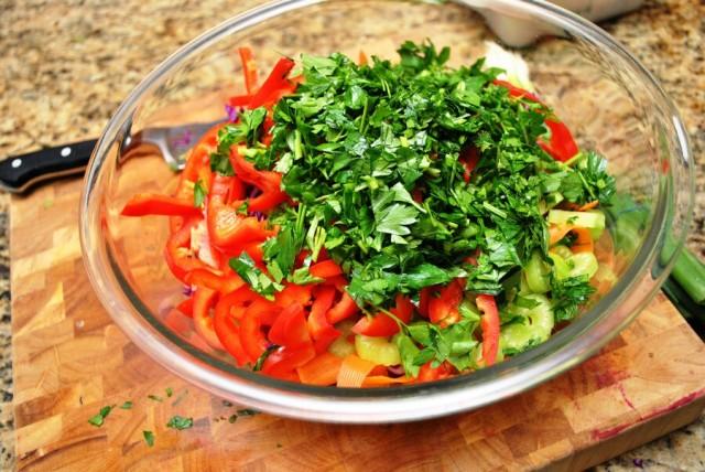 Raw Cabbage Salad