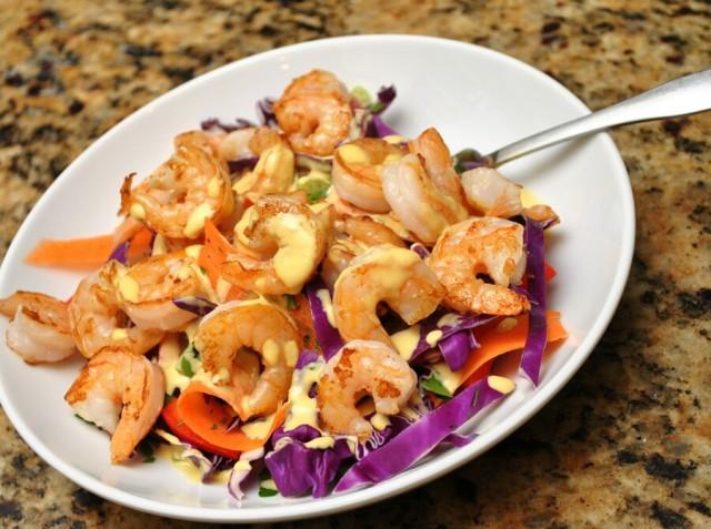 Rainbow Sesame Cabbage Salad