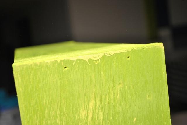 Sanding drips of paint