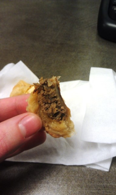 homemade chicken liver knish