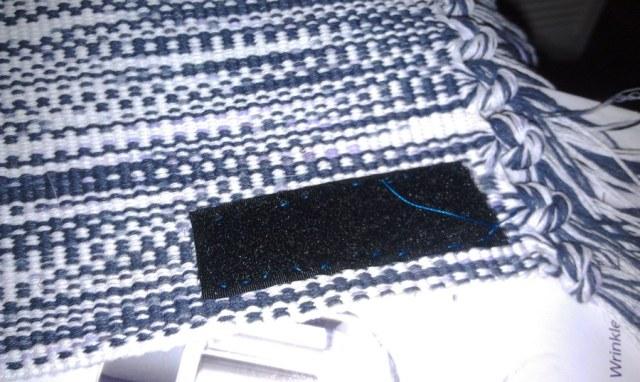 Velcro sewn to rug