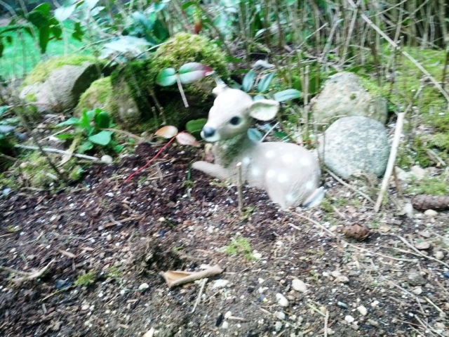 Yard art deer fawn
