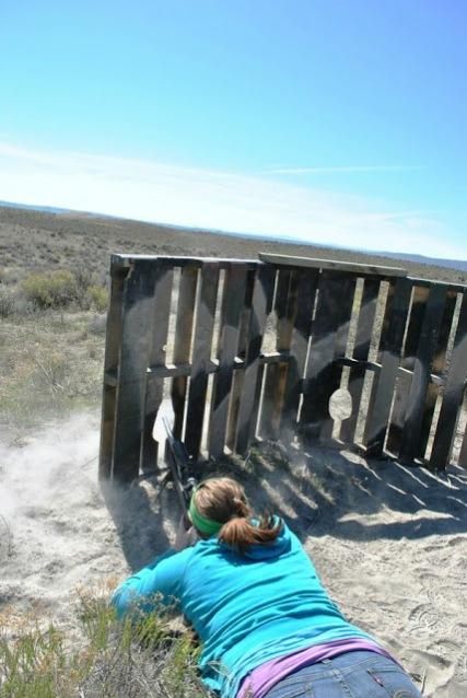 Shooting through a pallet