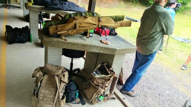 gear at a rifle match