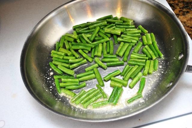 sauteing green beans