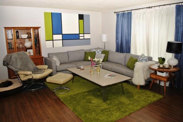 mid century living room