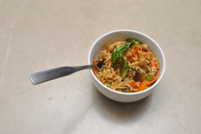 Sesame-Tamari rice bowl - vegan and gluten free
