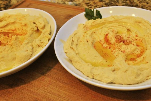 peeled chickpea hummus