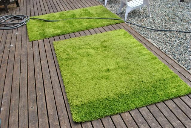 cleaned shag rugs