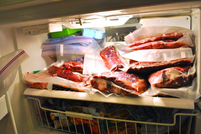 freezer full of venison