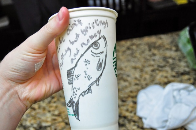 doodles on reusable starbucks cups