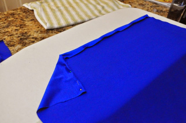 faux wrap jersey pencil skirt tutorial