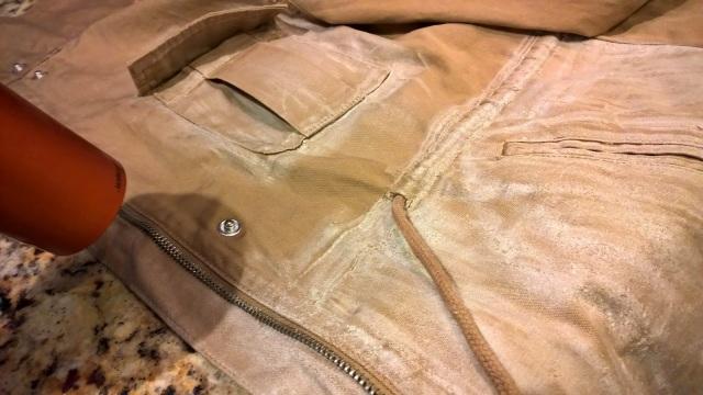 diy waxed cotton canvas jacket